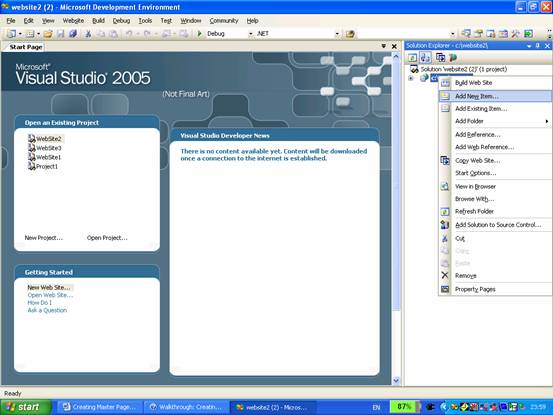 asp net master page templates download asp net working with master pages it training and