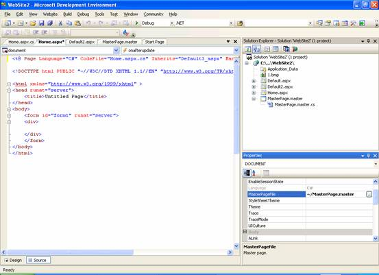 asp net master page templates download - asp net creating content for master page it training and