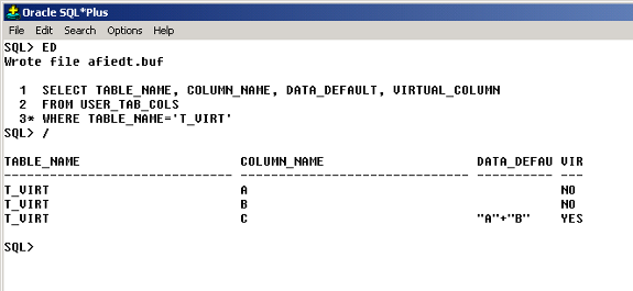 Oracle 11g Virtual Columns | IT Training and Consulting