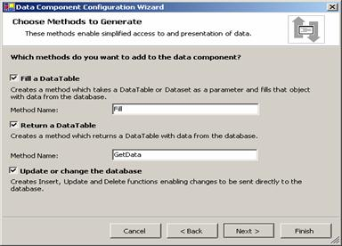 Figure 4-11 The Data Component Configuration Wizard.